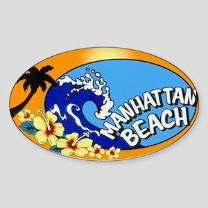 Manhattan Beach Sticker (Oval)