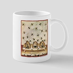 Medieval Bees in Skeps Mugs