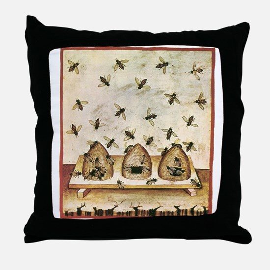Cute Old time vintage hand illustration Throw Pillow