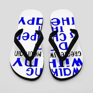 Walking With My Greater Swiss Mountain Flip Flops