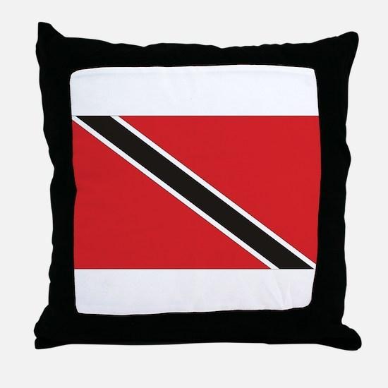 Trinidad & Tobago Flag Throw Pillow