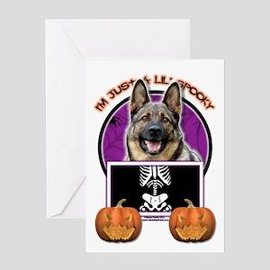 German shepherd halloween greeting cards cafepress just a lil spooky shepherd greeting card m4hsunfo
