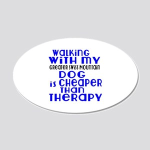 Walking With My Greater Swis 20x12 Oval Wall Decal