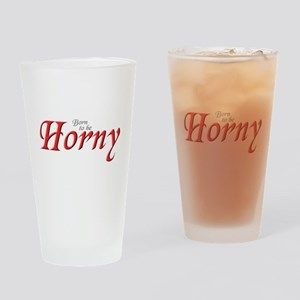 HORNY Drinking Glass