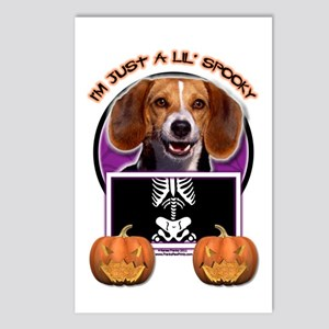 Just a Lil Spooky Beagle Postcards (Package of 8)