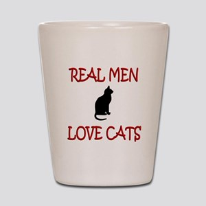 Real Men Love Cats Shot Glass