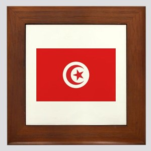 Tunisia Flag Framed Tile