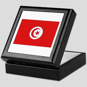 Tunisia Flag Keepsake Box