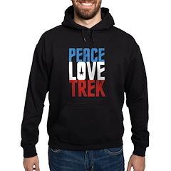 Peace Love Trek Hoodie (dark)