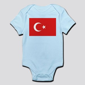 Turkish Flag Infant Creeper