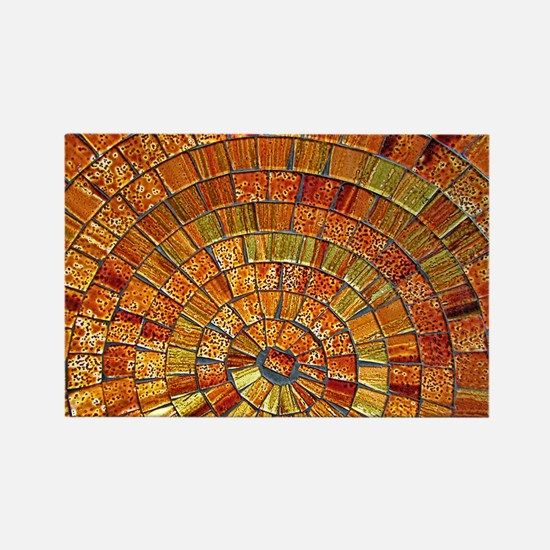 Balinese Glass Tile Art - BRN Rectangle Magnet
