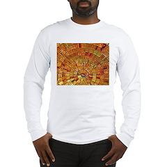 Balinese Glass Tile Art - BRN Long Sleeve T-Shirt
