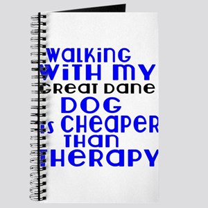 Walking With My Great Dane Dog Journal