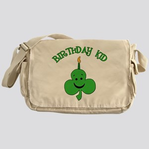 Birthday Kid with Happy Shamrock Messenger Bag
