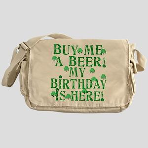 Buy Me a Beer Irish Birthday Messenger Bag