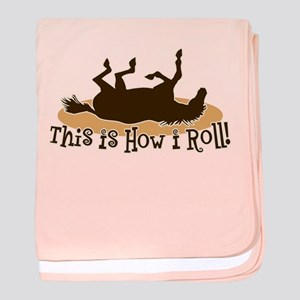 How I Roll Horse baby blanket