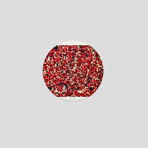 Balinese Glass Tile Art-RED Mini Button