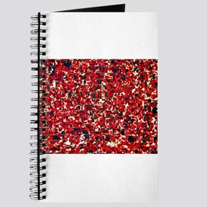 Balinese Glass Tile Art-RED Journal