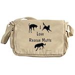 I Love Rescue Mutts Messenger Bag