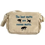 The Best Mutts Are Rescues Messenger Bag
