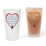 Open Your Heart Drinking Glass
