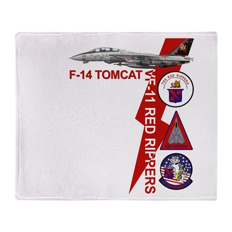 VF-11 Red Rippers Throw Blanket