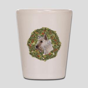 Scotty (Wheaten) Xmas Wreath Shot Glass