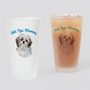 Shih Tzu Mommy Drinking Glass