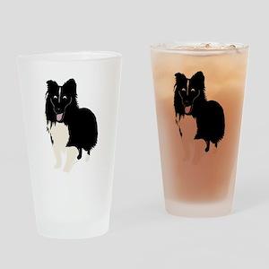 Shetland Sheepdog v4 Drinking Glass