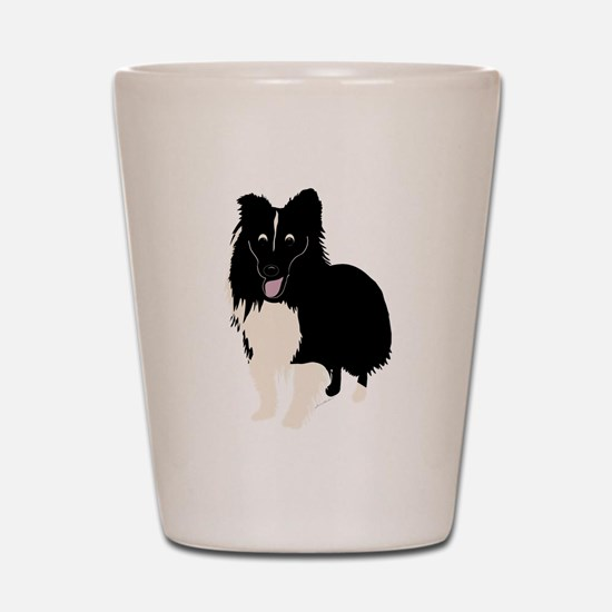 Shetland Sheepdog v4 Shot Glass