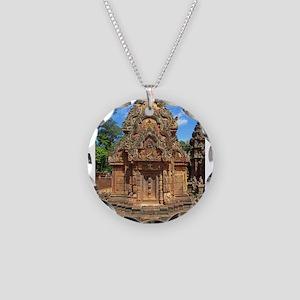 Banteay Srei Temple Chandi Necklace Circle Charm