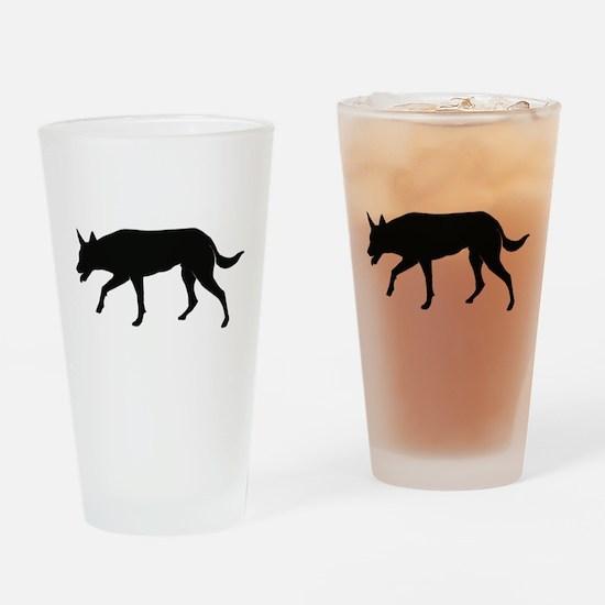 Working Australian Kelpie Drinking Glass