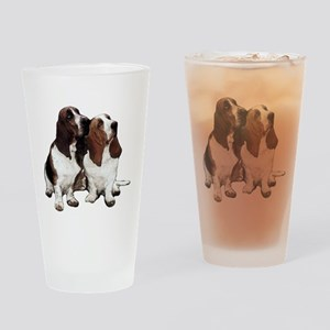 Basset Hounds Drinking Glass