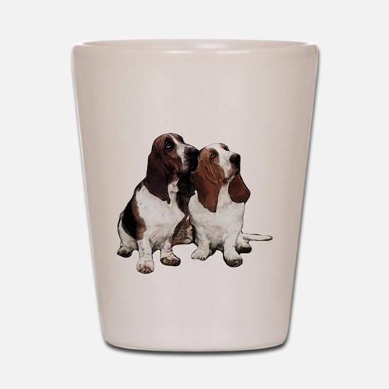Basset Hounds Shot Glass