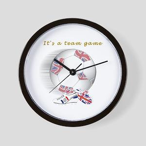 Team Game British Kids Wall Clock