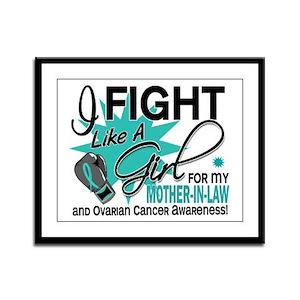 Fight Like a Girl For My Ovarian Cancer Framed Pan