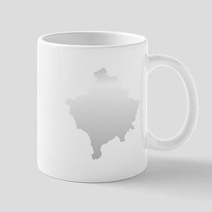 Kosovo Map Silver Mug