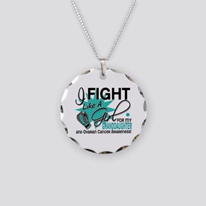 Fight Like a Girl For My Ovarian Cancer Necklace C