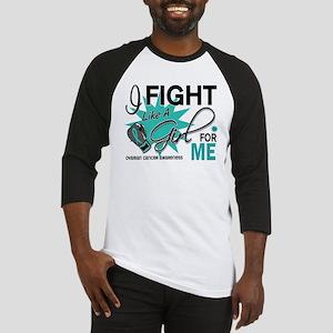 Fight Like a Girl For My Ovarian Cancer Baseball J
