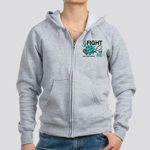 Fight Like a Girl For My Ovarian Cancer Women's Zi