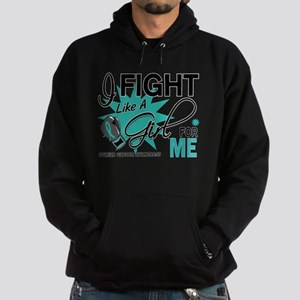 Fight Like a Girl For My Ovarian Cancer Hoodie (da