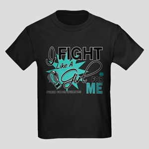 Fight Like a Girl For My Ovarian Cancer Kids Dark