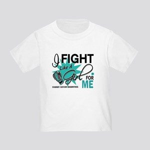 Fight Like a Girl For My Ovarian Cancer Toddler T-