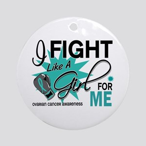 Fight Like a Girl For My Ovarian Cancer Ornament (