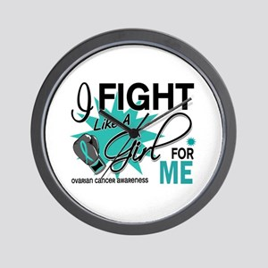 Fight Like a Girl For My Ovarian Cancer Wall Clock
