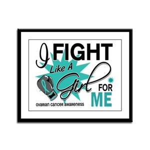 Fight Like a Girl For My Ovarian Cancer Framed Pan