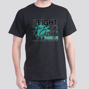 Fight Like a Girl For My Ovarian Cancer Dark T-Shi