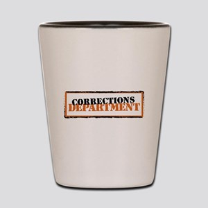 Corrections Department Shot Glass