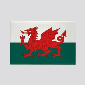 Welsh Flag Rectangle Magnet
