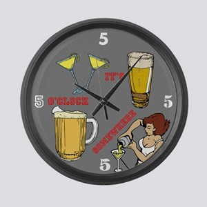 5'oclock Somewhere Bar Large Wall Clock